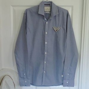 Scotch & Soda Sze Large True Gentleman Dress Shirt